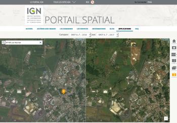 Consulter des images satellites sur notre territoire