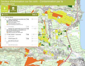 Actualisation de la carte de contamination des sols par la chlordécone (2019)